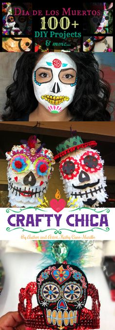 100+ Day of the Dead Craft & Food ideas, by CraftyChica.com.                                                                                                                                                                                 More