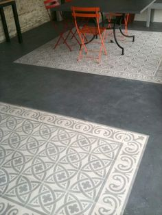 exemple de motifs et gris ciment