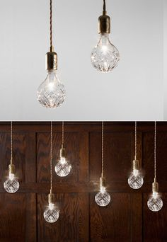 British designer Lee Broom created these gorgeous Crystal Bulb Pendant Lights. The bulb is designed to fit any standard ceiling, wall or lamp fitting, and can be hung alone or in clusters to create enchanting light effects.