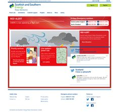 Scottish electricity distribution company website after a night of hurricane-force storms caused massive damage and power cuts for thousands of homes in January 2015. http://www.ssepd.co.uk/