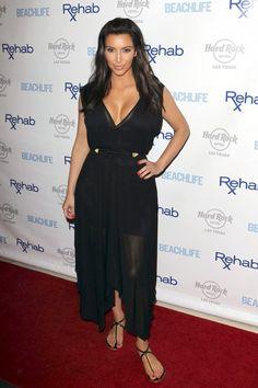 Love this black and gold ensemble on Kim!