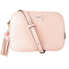 Dolce And Gabbana Lea Tassel Cross Body Bag (3.170 BRL) ❤ liked on Polyvore featuring bags, handbags, shoulder bags, pink, cipria, leather crossbody purse, crossbody shoulder bag, pink cross body purse, cross-body handbag and pink shoulder bag