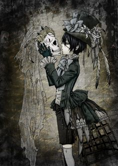 Ciel Phantomhive - Kuroshitsuji.  something about this picture makes me love it