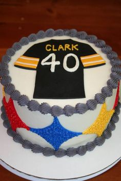 A Steelers cake makes a big birthday easier to swallow!!!