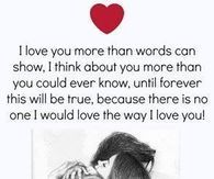 I Love You More Than Words Can Show Love You More Love You More Than Words