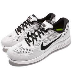 Nike Lunarglide 8 VIII White Black Men Running Shoes Sneakers Trainer 843725 -101