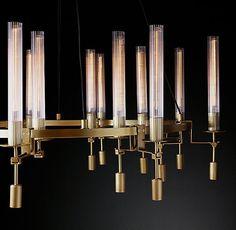 Round Chandelier, Large Chandeliers, Modern Lighting, Lighting Design, Minimalist Architecture, Classic Interior, Restoration Hardware, Contemporary Design, Home Furnishings