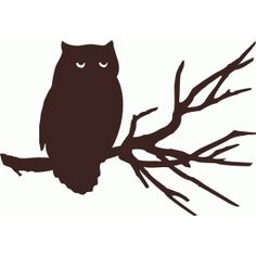 Silhouette Design Store - View Design #49960: owl on branch