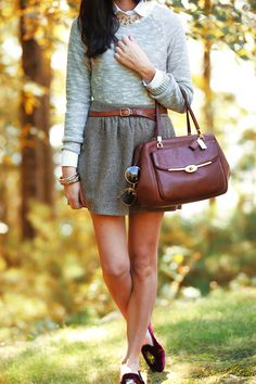 Such a great, simple outfit for fall. I love the necklace, too! Classy Girls Wear Pearls