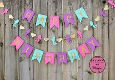 Gold Glitter Paper Mermaid Birthday Banner, Pink Purple and Teal Birthday Garland, Girl's Birthday Party Decor, Gold Glitter Happy Birthday Birthday Garland, Happy Birthday Banners, Birthday Party Decorations, 1st Birthday Parties, Mermaid Theme Birthday, Glitter Birthday, Pink Birthday, Birthday Board, 4th Birthday