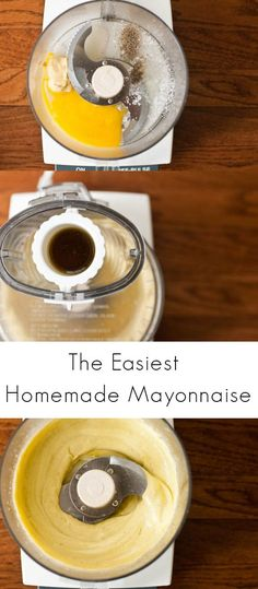 A recipe for homemade mayonnaise using Mark Bittman's ridiculously easy food processor method. You'll never need the store-bought stuff again.