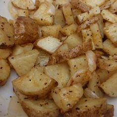 Microwaved Potatoes Lyonnaise Recipe-Tried it.  Quick, easy, and yummy!  (But I did broil them for a couple minutes to make a tad cripsy)