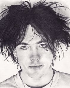 Robert Smith The Cure Portrait Print by AlchemyDesignsPDX on Etsy, $20.00