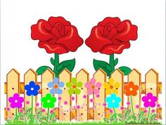 ROSE FENCE Classroom Wall Decor, Classroom Walls, Sight Word Wall, Class Tree, Pop Up Frame, Flower Fence, Boarders And Frames, Boarder Designs, Wall Decor Design