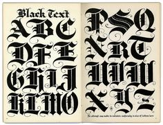 Typeverything.com @typeverything Black Letter. Via Depression Press