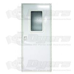 "Lippert Components 24"" x 68"" Polar White RH Square Entry Door"