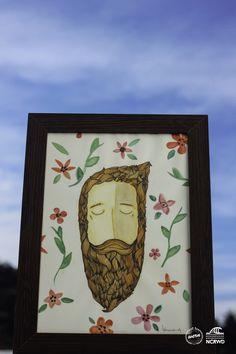 Beardmen - Ilustração feita em aquarela