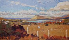 Alex McKenna- Cattle above the Achill #art #Atalantic #Coast #moutains #water…