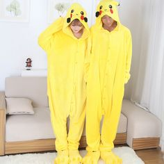 2017 New Anime Cospaly Pokemon Go Pikachu Adult Pajamas Onesie Fantasias  Mascot Pikachu Halloween Cosplay Costumes 986631270fa2