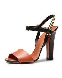 Tess Bicolor Leather Ankle Wrap Sandal by Gucci at Bergdorf Goodman.