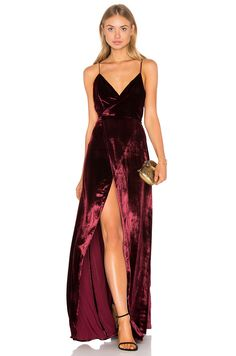 THE JETSET DIARIES Atlas Maxi Dress in Oxblood