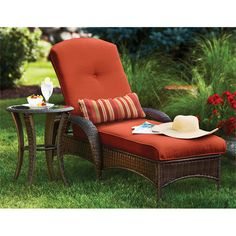 Porch on pinterest checkerboard table cottage front for Better homes and gardens hillcrest outdoor chaise lounge