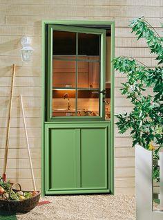 Porte avec ouvrant vitr grille en font partie vitr e for Entree conviviale