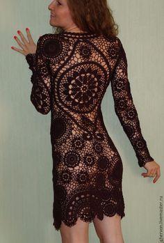 Brugge's crochet black dress