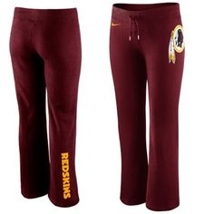 Nike Washington Redskins Women's Tailgater Fleece Pants - Burgundy