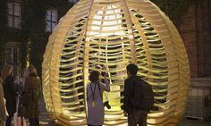 IKEA lab creates algae-producing pavilion in Copenhagen Temporary Architecture, Urban Architecture, Sustainable Architecture, Amazing Architecture, Dome Structure, Ikea, Outdoor Pergola, Cool Inventions, Built Environment
