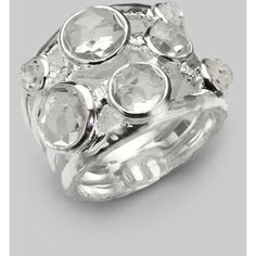 IPPOLITA Clear Quartz & Sterling Silver Ring (45520 RSD) ❤ liked on Polyvore featuring jewelry, rings, apparel & accessories, silver, ippolita ring, clear quartz crystal jewelry, sterling silver rings, clear quartz jewelry and ippolita jewelry