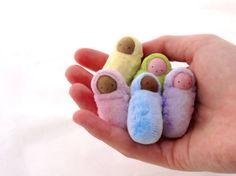 Peanut Baby Pastel // miniature bunting doll // waldorf birthday party favor // Easter basket // ready to ship doll Wood Peg Dolls, Clothespin Dolls, Doll Crafts, Sewing Crafts, Sewing Projects, Sock Dolls, Felt Dolls, Rag Dolls, Fabric Dolls