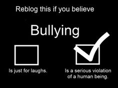 BULLYING NEEDS TO BE STOPPED, PEOPLE ARE ACTULLY KILLING THEMSELVES, FROM BEING BULLIED