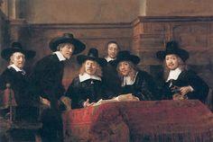 The Sampling Officials of the Drapers' Guild, Rembrandt van Rijn, 1662 - Rijksmuseum Rembrandt Art, Rembrandt Paintings, Art Occidental, Popular Paintings, Baroque Art, Puzzle Art, Free Art Prints, Dutch Painters, Dutch Artists