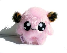 Fluse Kawaii Plush cute Monster stuffed animal light Pink von Fluse123 auf Etsy