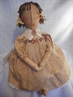 PATTERN, Primitive raggedy Annie folk art doll [pattern by Dumplinragamuffin #Dumplinragamuffin