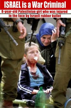 Israeli shot this poor little Palestinian girl because, her family was being bombed and shot while she ran. Israel is are cowards!