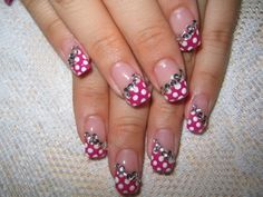Cool Easy Gel Nail Designs with Rhinestone