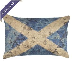 Burlap pillow with a flag motif. Handmade in the USA exclusively for Joss & Main.  Product: PillowConstruction Mater...