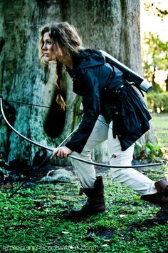 I think I'm gonna name the archery girl Hanna, and no, not because it's practically my name, but because I think it suits her. It's pronounced differently anyway.