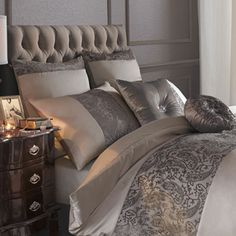A beautiful Square Continental Pillowcase in a rich luxurious colour. Kylie Minogues Stella. chic at home