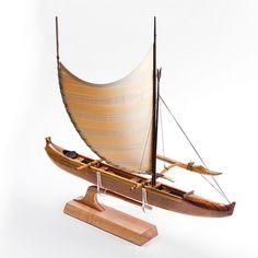 A true scale model of a Hawaiian fishing canoe. by FrancisPimmel