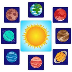 Tajomný svet vesmíru - Prírodné vedy - človek - Magnetické karty ZŠ - Chránená dielňa Sistema Solar, Space Activities, Preschool Activities, School Projects, Projects For Kids, Space Theme, Home Schooling, Outer Space, Solar System