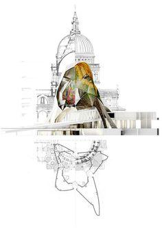 Cristina Díaz Moreno + Efrén García Grinda Unit Masters of Diploma Unit 5 at A. Architectural Association School of Architecture of Lond. Architectural Association, Architectural Section, Architectural Presentation, Architecture Drawings, School Architecture, Architecture Collage, Beautiful Architecture, Architecture Design, Black And White Illustration