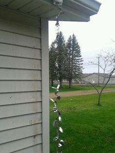 Rain chain made from silverware