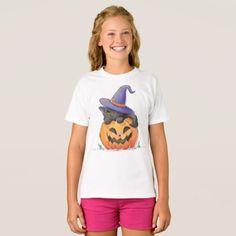 #Cute Cat on a Pumpkin Halloween | Shirt - #cute #gifts #cool #giftideas #custom