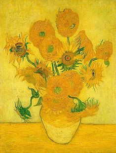 Still Life: Vase with Fifteen Sunflowers - Vincent van Gogh . Created in Arles, France in January, Located at Van Gogh Museum Vincent Van Gogh, Monet, Van Gogh Museum, Flores Van Gogh, Vase With Fifteen Sunflowers, Van Gogh Still Life, Van Gogh Flowers, Van Gogh Arte, Van Gogh Pinturas