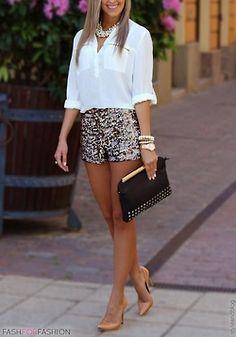 sequin shorts.love