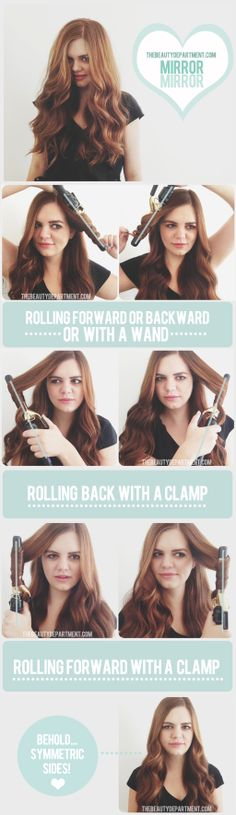Symmetric curls - 20 Cute and Easy Hairstyle Ideas and Tutorials
