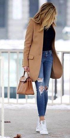 Manteau Femme Chic - - Trend is actually partially growing and therefore Blazer Outfits, Chic Outfits, Fashion Outfits, Work Outfits, Work Dresses, Fashion Clothes, Fashionable Outfits, Fashion Hacks, Dressy Outfits